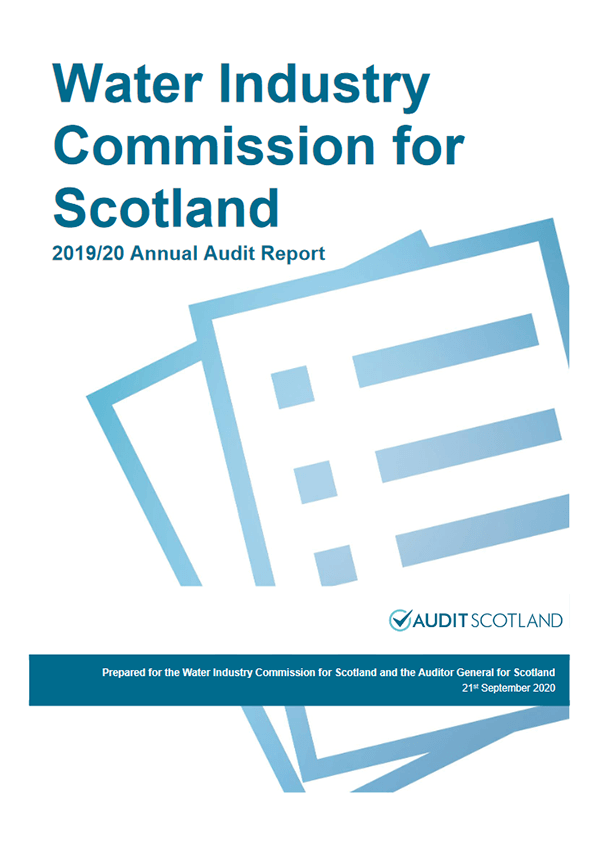 Report cover: Water Industry Commission for Scotland annual audit 2019/20