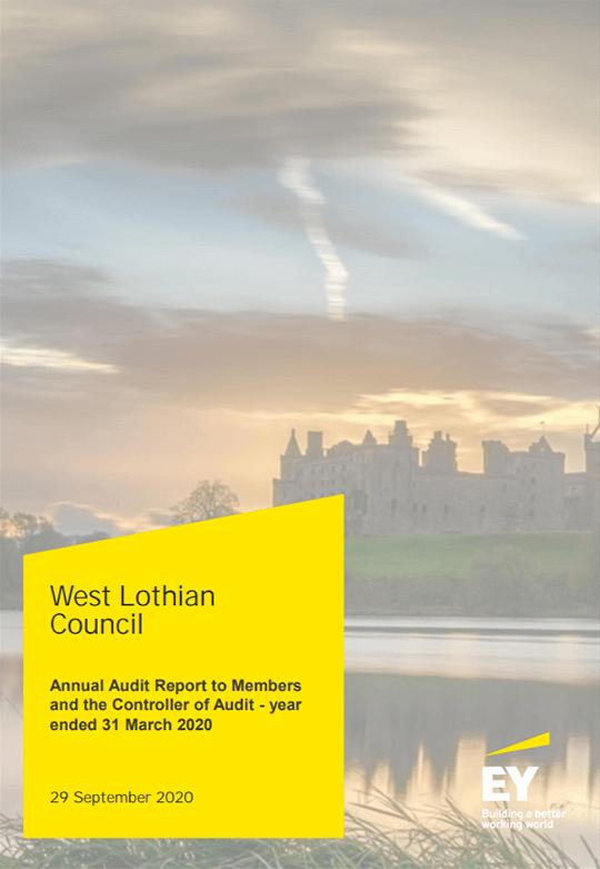 Report cover: West Lothian Council annual audit 2019/20