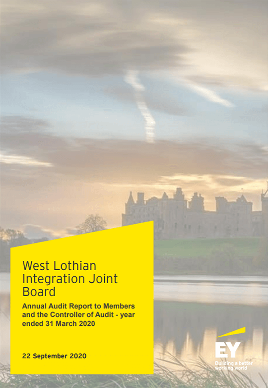 Report cover: West Lothian Integration Joint Board annual audit 2019/20