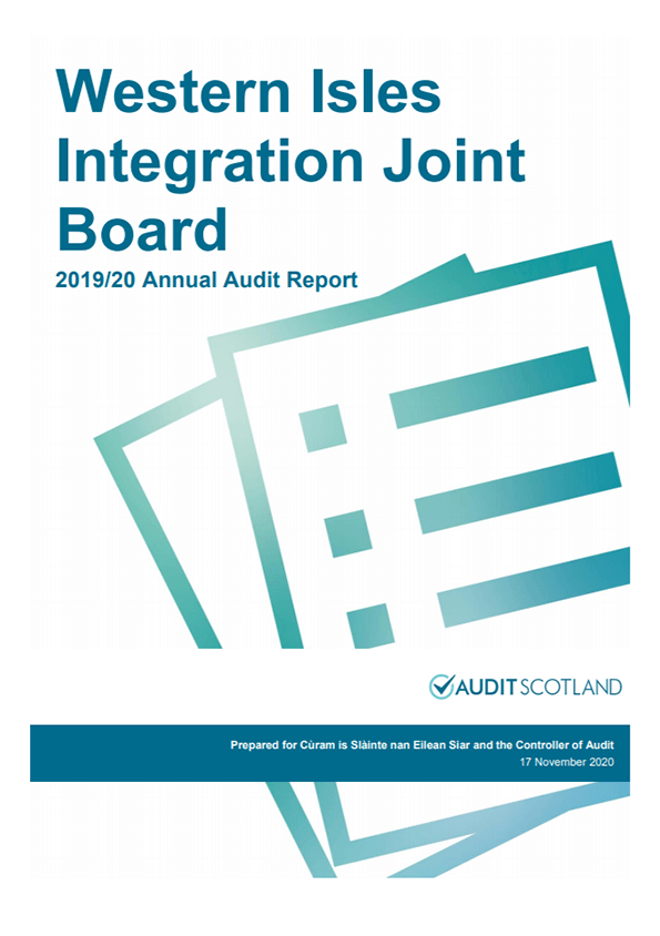 Report cover: Western Isles Integration Joint Board annual audit 2019/20
