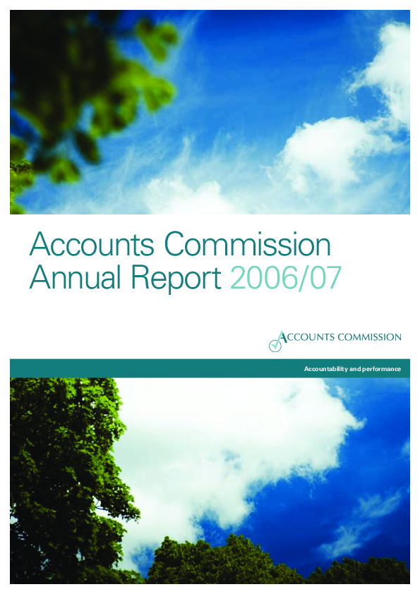 Report cover: Accounts Commission Annual Report 2006/07