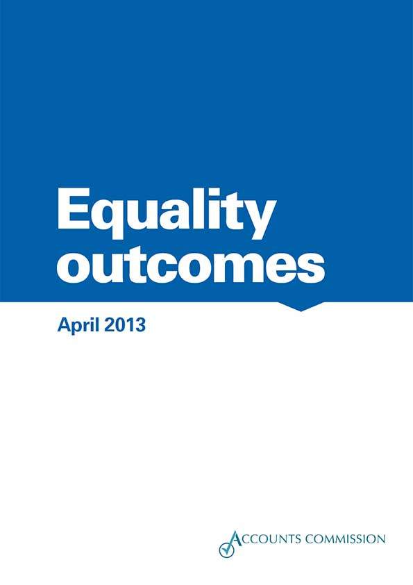 Report cover: Accounts Commission: Equality outcomes 2013