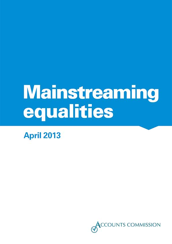 Report cover: Accounts Commission: Mainstreaming equalities 2013
