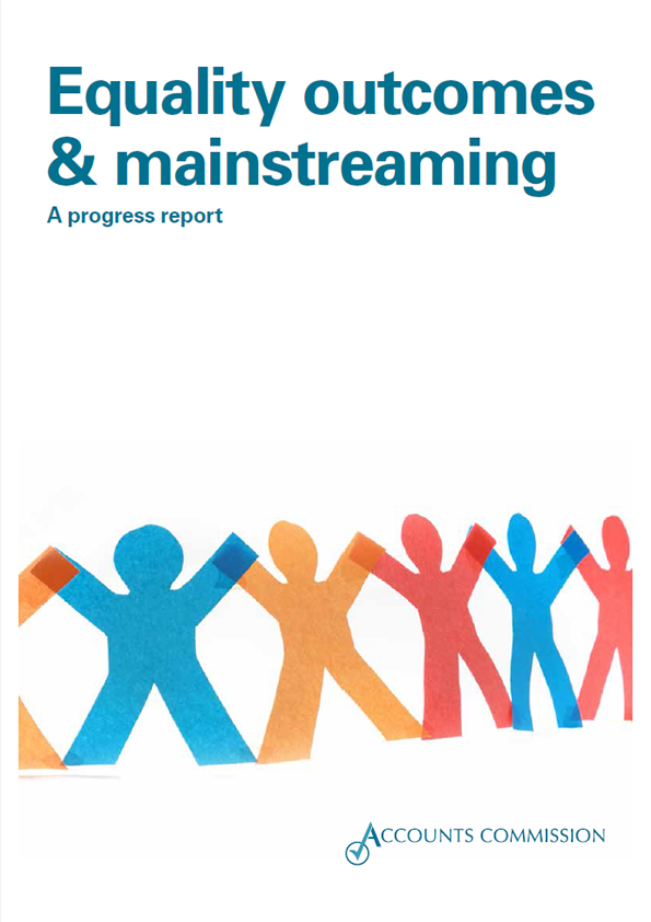 Report cover: Accounts Commission Equality outcomes and mainstreaming 2015