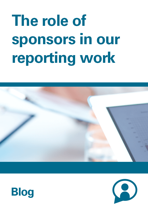 View The role of sponsors in our reporting work