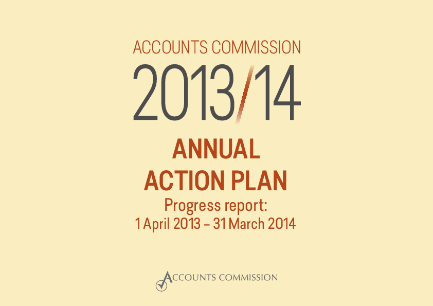 Report cover: Accounts Commission annual action plan: progress report 2013/14
