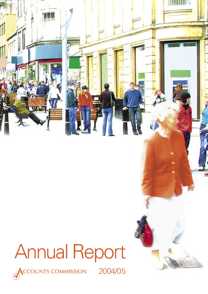 Report cover: Accounts Commission Annual Report 2004/05