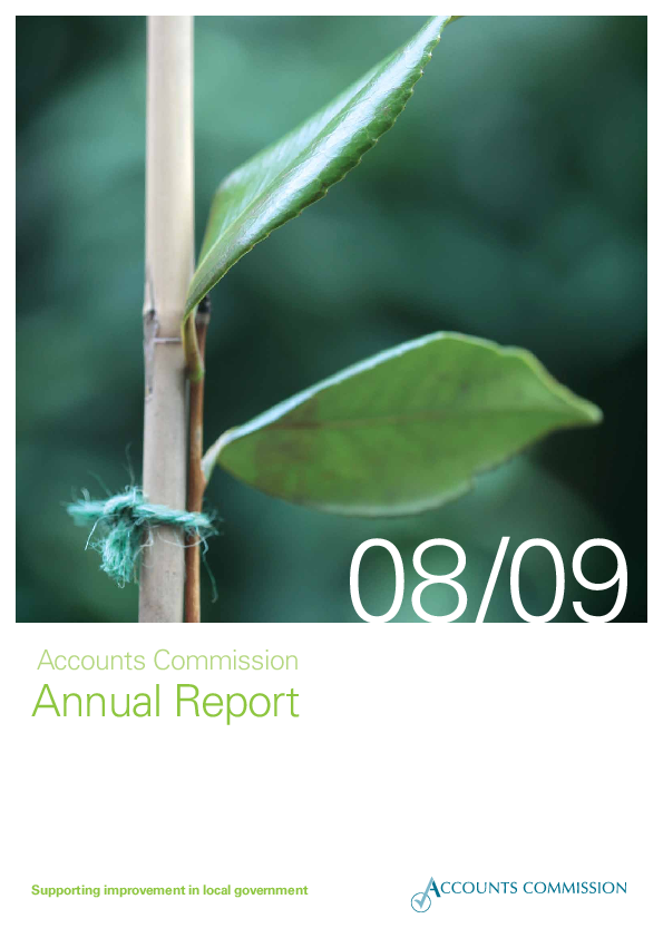 Report cover: Accounts Commission Annual Report 2008/09