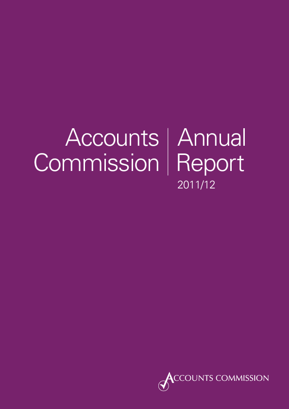 Report cover: Accounts Commission Annual Report 2011/12