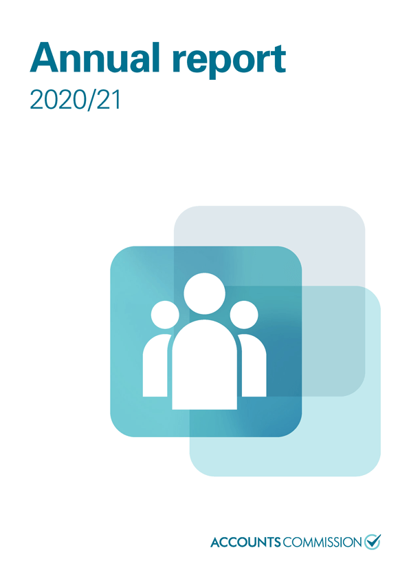 Report cover: Accounts Commission annual report 2020/21