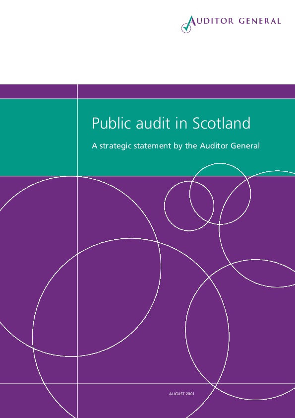 Report cover: Public audit in Scotland - July 2001