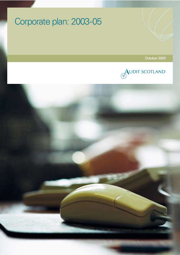 Report cover: Corporate plan: 2003-05