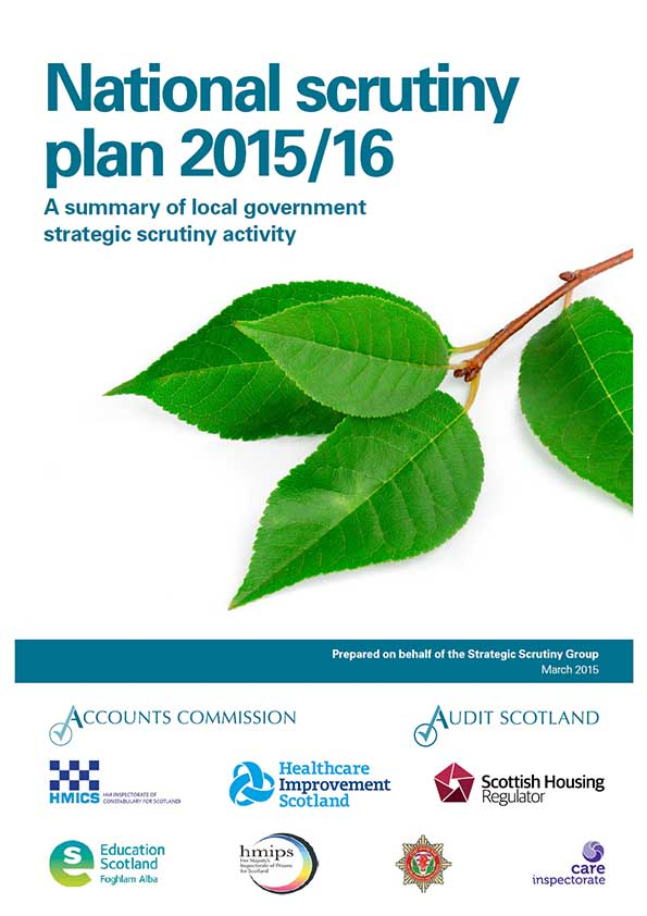 Report cover: National Scrutiny Plan for Local Government 2015/16