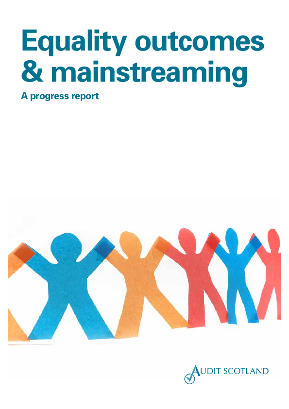 Report cover: Equality outcomes and mainstreaming 2015
