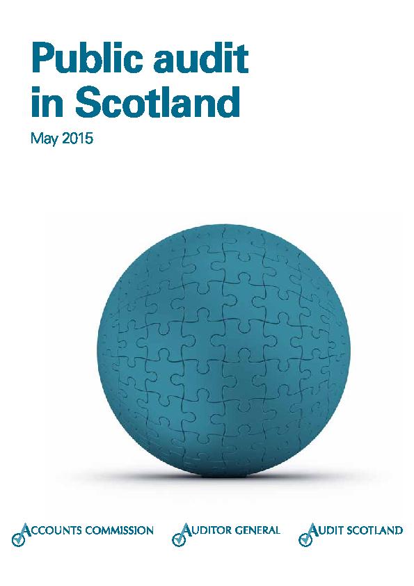 Report cover: Public audit in Scotland