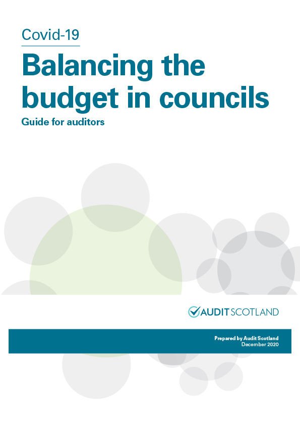 Report cover: Covid-19: Balancing the budget in councils