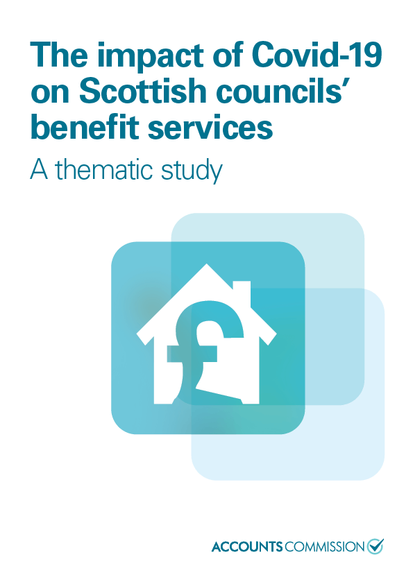 Report cover: The impact of Covid-19 on Scottish councils' benefit services
