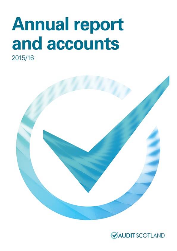 Report cover: Audit Scotland annual report and accounts 2015/16