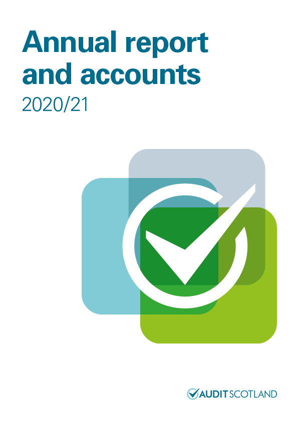 Report cover: Annual report and accounts 2020/21