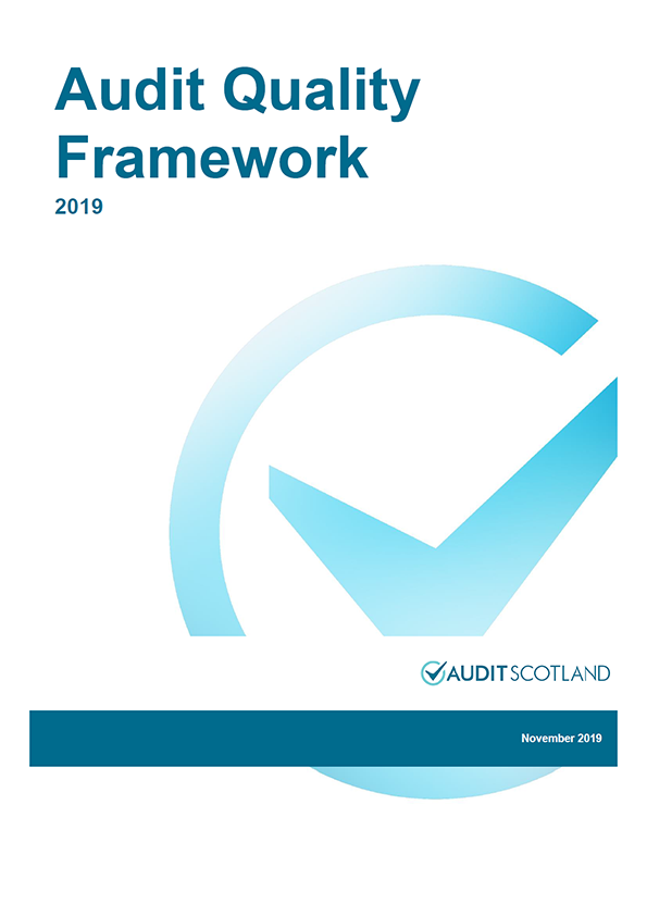 Report cover: Audit Quality Framework 2019