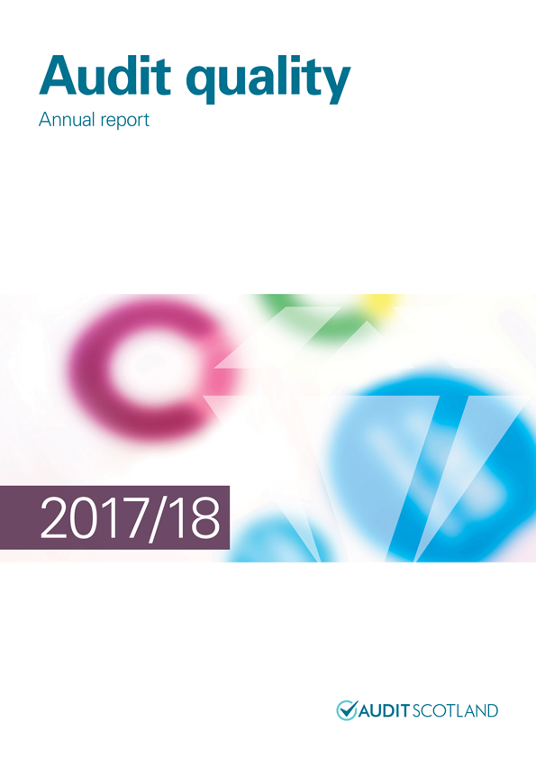Report cover: Audit Quality annual report 2017/18
