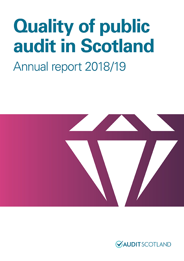 Report cover: Quality of public audit in Scotland annual report 2018/19