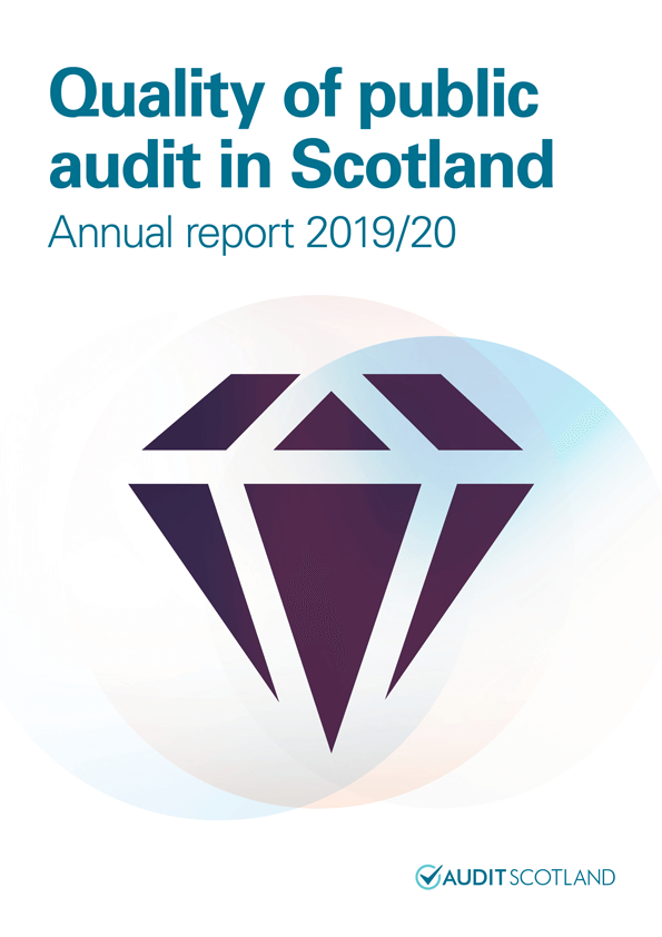 Report cover: Quality of public audit in Scotland annual report 2019/20