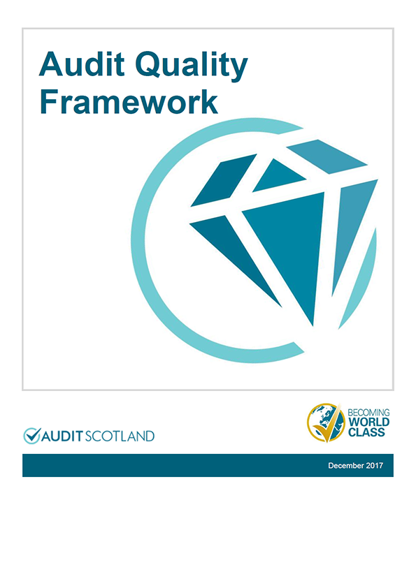 Report cover: Audit Quality Framework