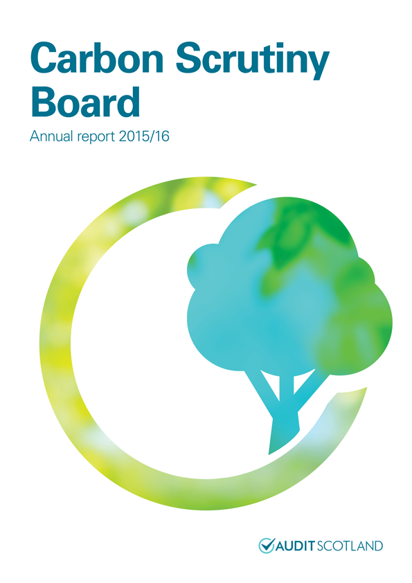 Report cover: Carbon Scrutiny Board annual report 2015/16
