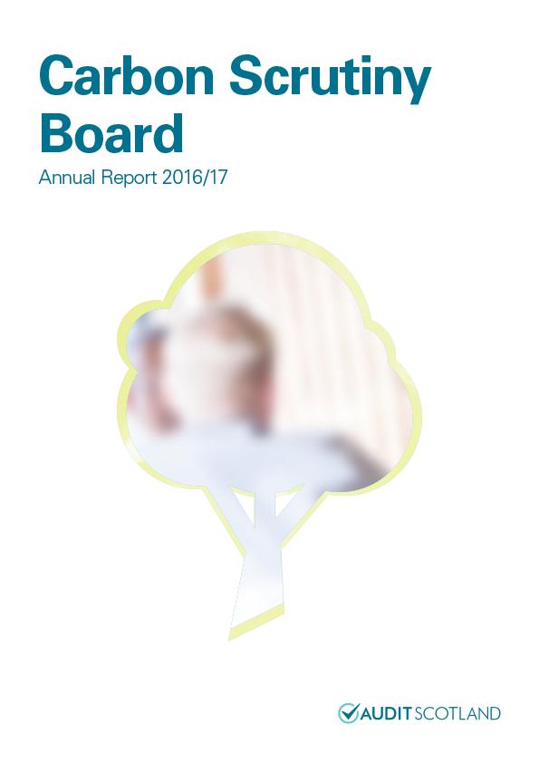 Report cover: Carbon Scrutiny Board annual report 2016/17