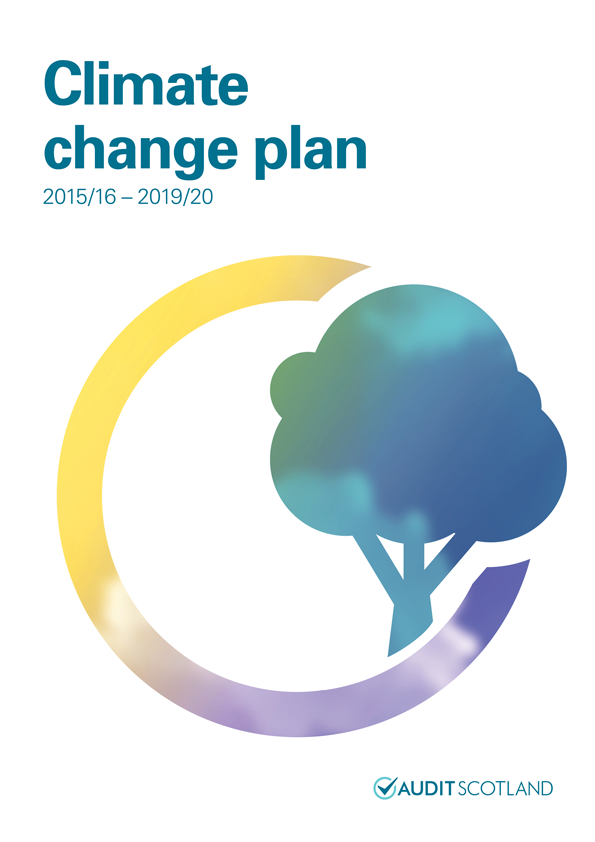 Report cover: Climate change plan 2015/16 - 2019/20
