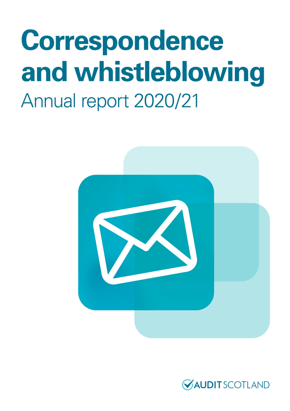 View Correspondence and whistleblowing annual report 2020/21