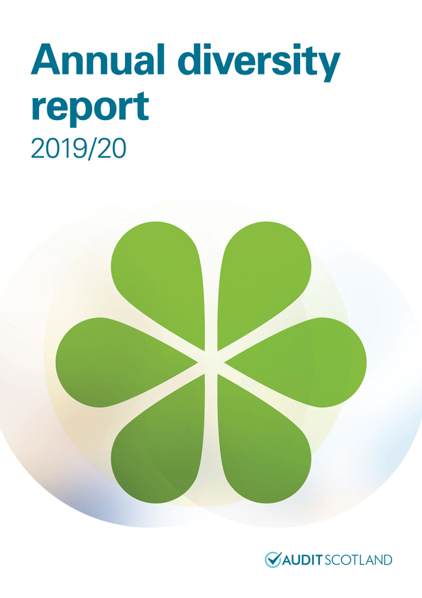 Report cover: Annual diversity report 2019/20