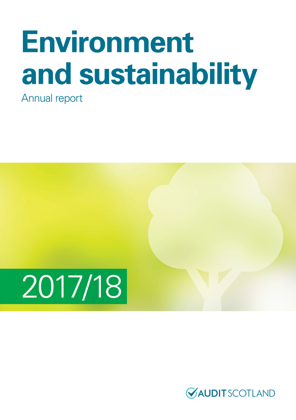 Report cover: Environment and sustainability annual report 2017/18