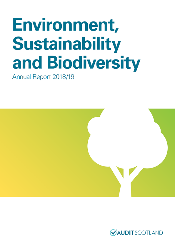 Report cover: Environment, Sustainability and Biodiversity annual report 2018/19
