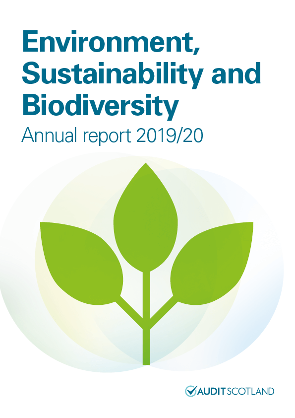 Report cover: Environment, Sustainability and Biodiversity annual report 2019/20