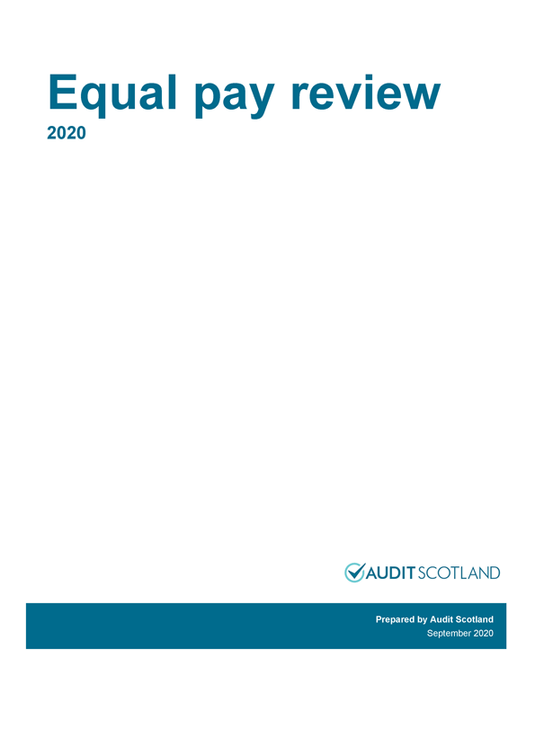 Report cover: Equal pay review 2020