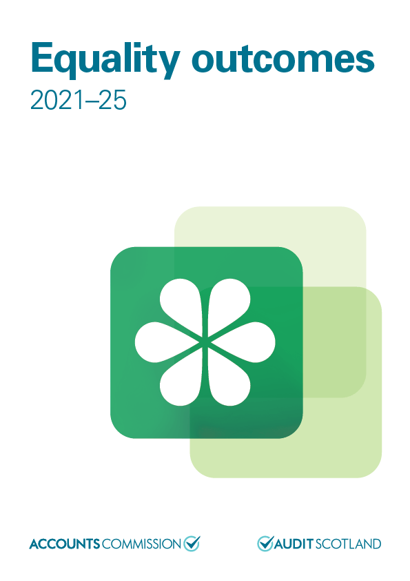 Report cover: Equality outcomes 2021-25
