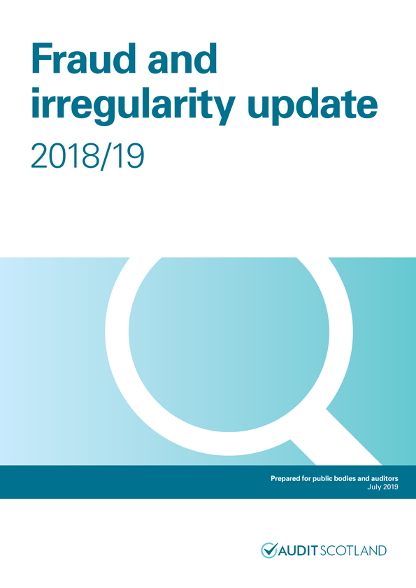 Report cover: Fraud and irregularity update 2018/19