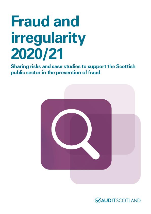 View Fraud and irregularity 2020/21