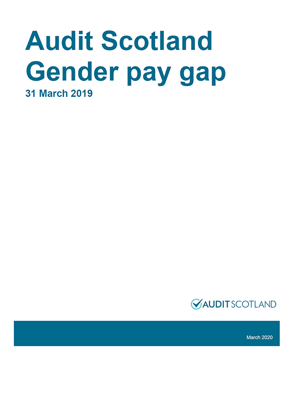 Report cover: Audit Scotland Gender pay gap 31 March 2019