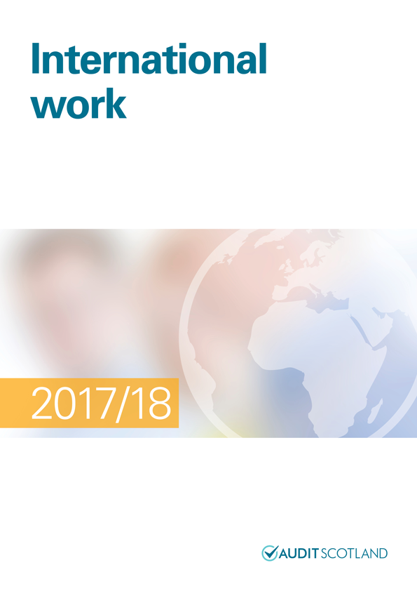Report cover: International work annual report 2017/18