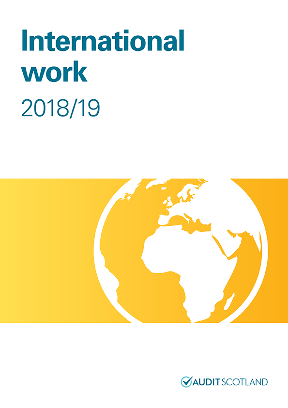 Report cover: International work 2018/19