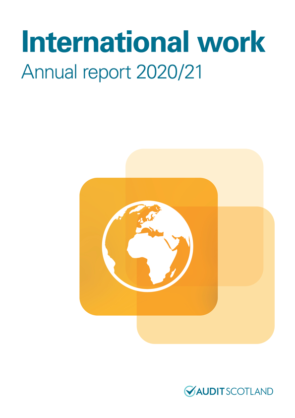 Report cover: International work annual report 2020/21