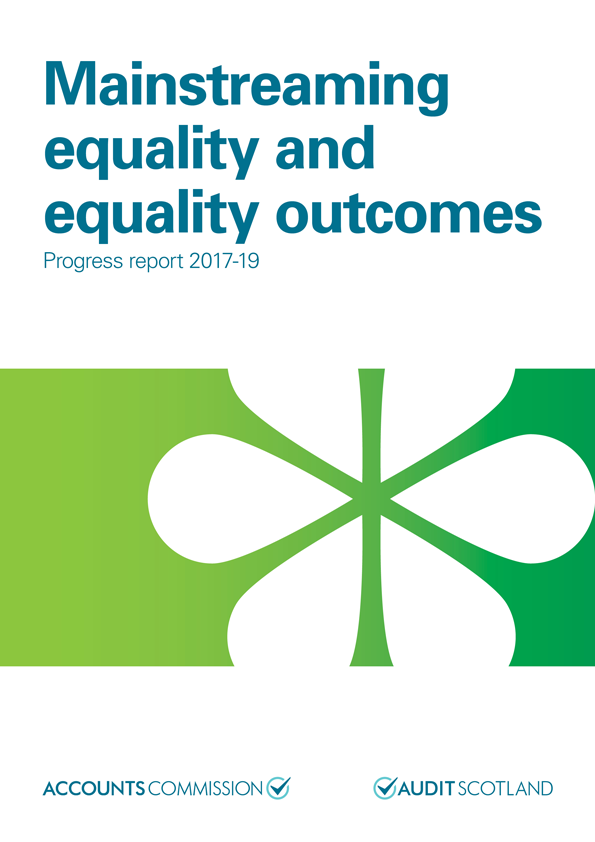 Report cover: Mainstreaming equality and equality outcomes: progress report 2017-2019