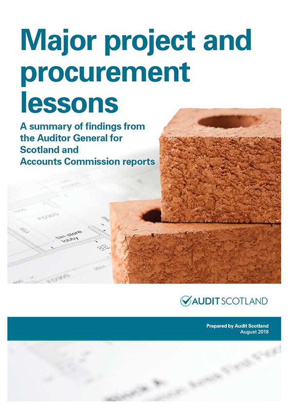 Report cover: Major project and procurement lessons