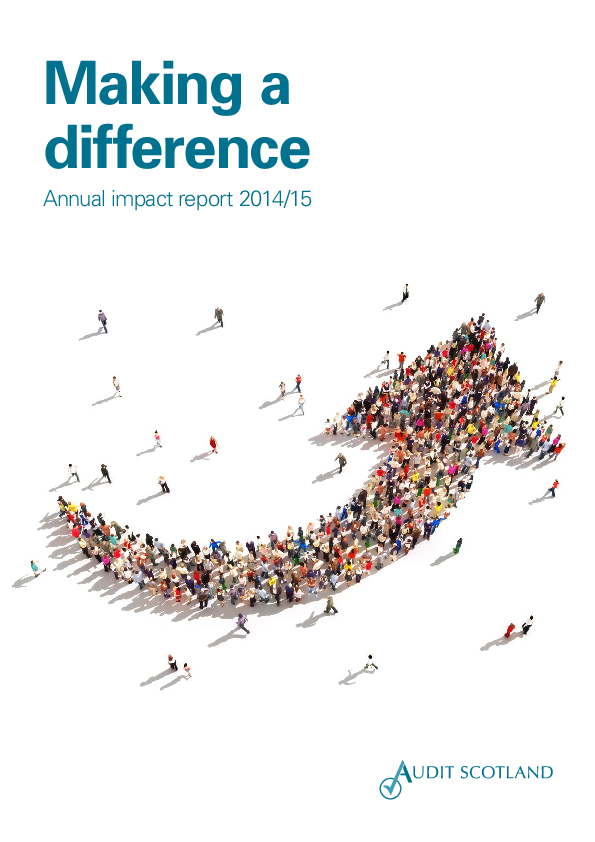 Report cover: Making a difference annual impact report 2014/15