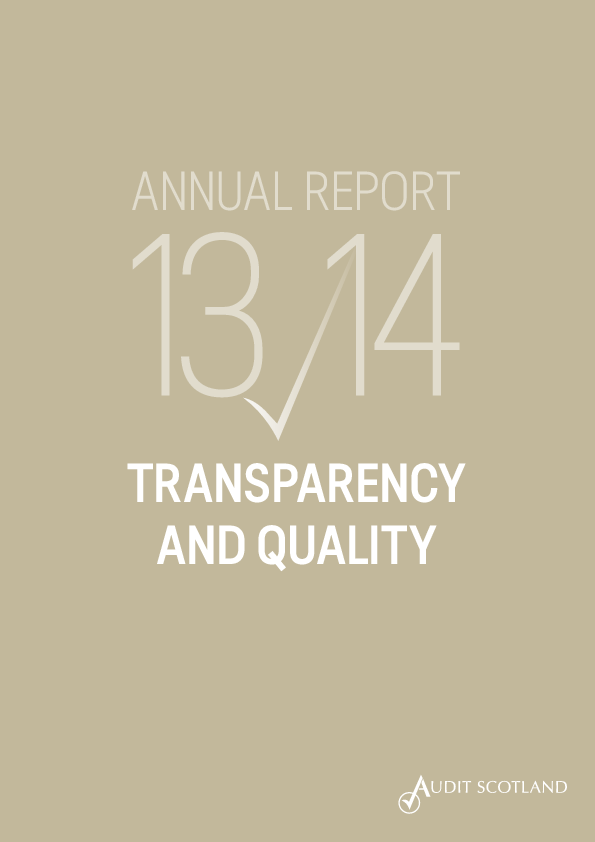 Report cover: Transparency and Quality report 2013/14