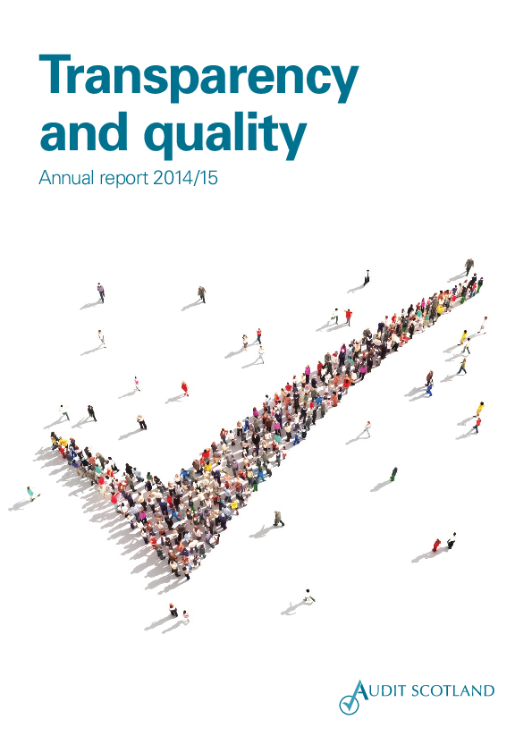 Report cover: Transparency and quality annual report 2014/15