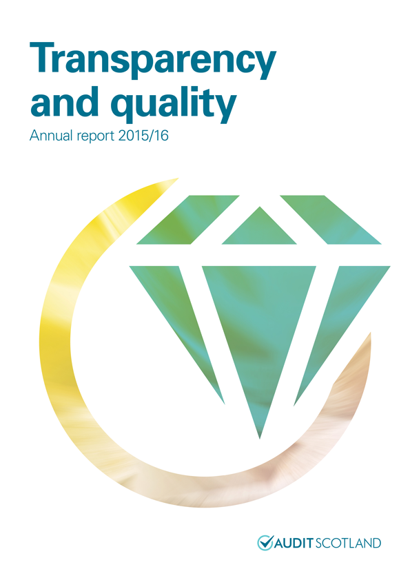 Report cover: Transparency and quality annual report 2015/16